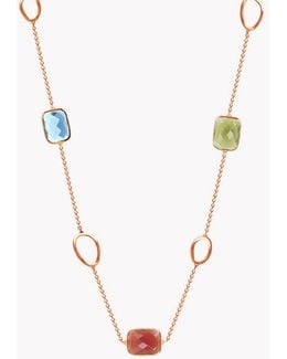 14k Rose Gold Five Stones Chelsea Necklace