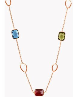 14k Rose Gold Three Stones Chelsea Necklace