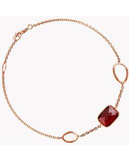 14k Rose Gold Chelsea Bracelet With Garnet