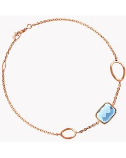 14k Rose Gold Chelsea Bracelet With London Blue Topaz