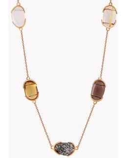 18k Rose Gold Mayfair Short Necklace With Quartz
