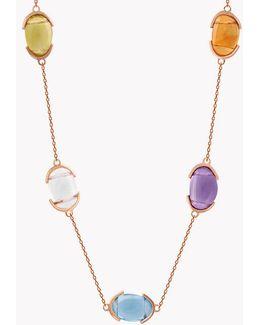 18k Rose Gold Mayfair Multi Stone Short Necklace