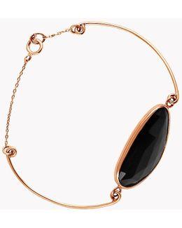 14k Rose Gold Midnight Pebble Black Spinel Bracelet