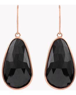 14k Rose Gold Midnight Pebble Black Spinel Earrings