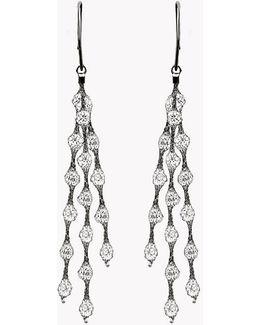 Liquid Diamonds Ruthenium Plated Silver Earrings