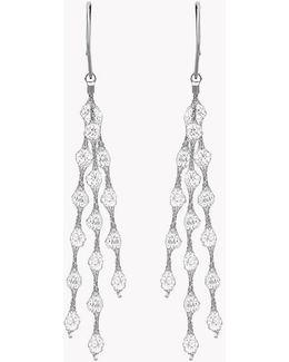 Liquid Diamonds Silver Earrings