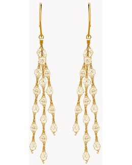 Liquid Diamonds Yellow Gold Plated Silver Earrings