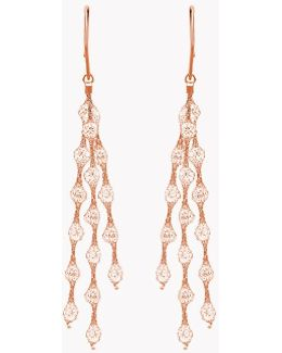 Liquid Diamonds Rose Gold Plated Silver Earrings