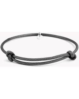 Knot Mesh Silver Bracelet