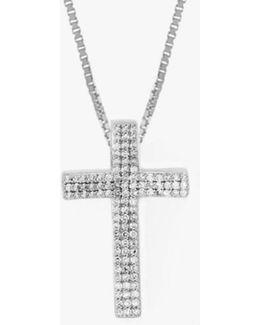 Precious Cross Micro Pavé Necklace