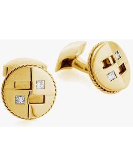 Square Cut Diamond Cufflinks