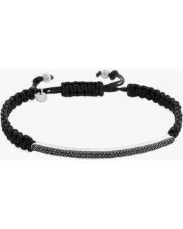 Micro Pavé Macramé Bracelet With Diamonds