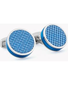 Tablet Cufflinks With Carbon Fibre