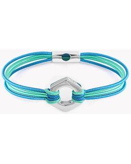 Silver Nut & Bolt Friendship Bracelet