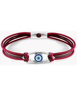 Silver Evil Eye Friendship Bracelet