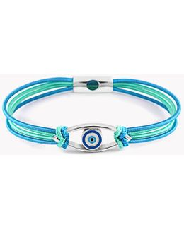 Silver Evil Eye Friendship Bracelet