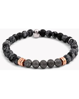 Stonehenge Silver Bracelet - Small Beads