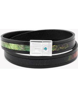 Amazonian Slide Silver Bracelet In Green