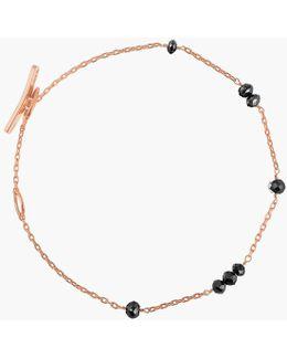 18k Rose Gold Black Diamonds Bracelet - 8 Diamonds