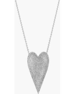 18k Cuore Micropave Necklace - 415 Diamonds