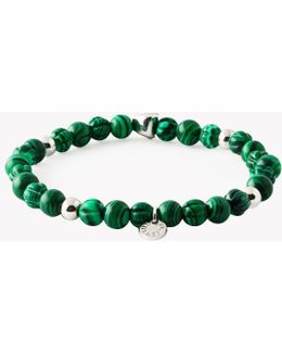 Saakshar Malachite Beaded Bracelet