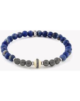 Stonehenge Silver Diamond Bracelet