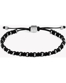 Macrame Bamboo Silver Bracelet