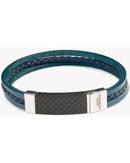 Carbon Slide Silver Bracelet