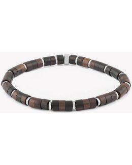 Ebony Bamboo Silver Bracelet
