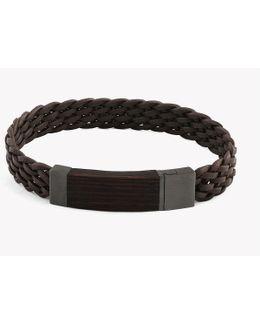 Madera Silver Leather Bracelets