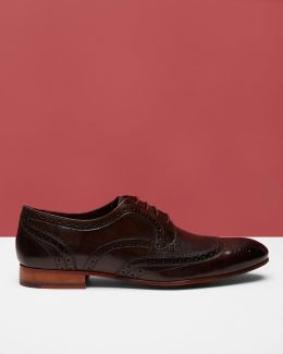 Burnished Leather Derby Brogues
