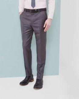 Sharkskin Wool Trousers