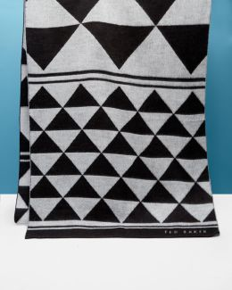 Monochrome Patterned Scarf