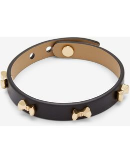 Micro Bow Leather Bracelet