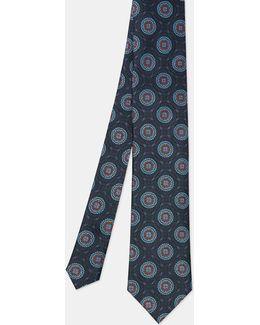 Circle Jacquard Silk Tie