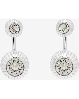 Crystal Etched Ball Earrings