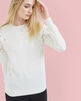 Lace Jaquard Sweater