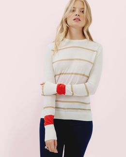 Charlis Metallic Stripe Jumper