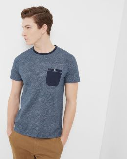 Mouliné Cotton Crew Neck T-shirt