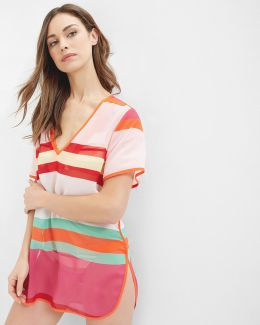 Pier Stripe Cover Up