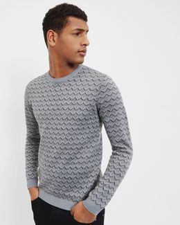 Vince Geo Design Crew Neck Jumper