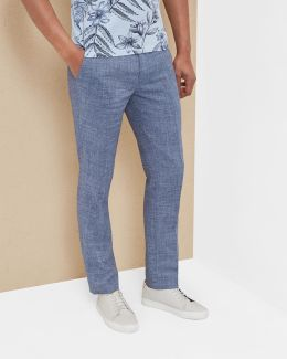 Crosshatch Linen-blend Trousers