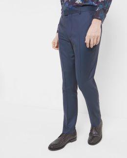 Broken Herringbone Wool Trousers