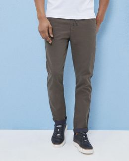 Classic Fit Cotton Drawstring Chinos