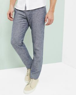 Linen-blend Slim Fit Pants