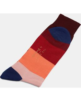 Block Striped Socks