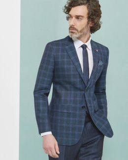 Global Luxe Checked Blazer