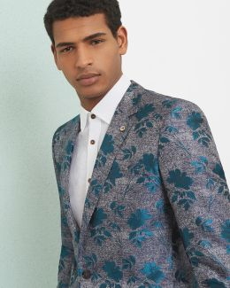 Global Luxe Silk Floral Blazer