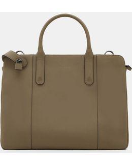 Slim Leather Document Bag