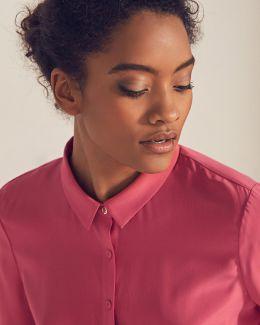 Button-front Silk Shirt